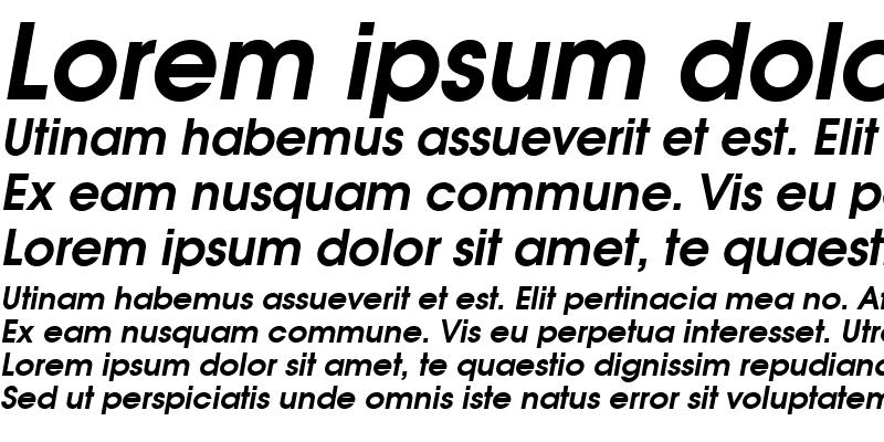 Sample of Moderne Demi Oblique