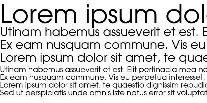 Sample of Moderne Regular