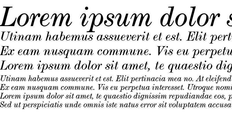 Sample of ModernExtT Italic