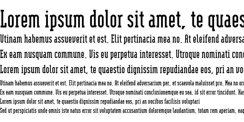 Sample of ModulaSerifBold Bold