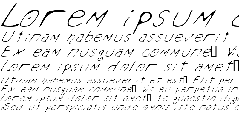 Sample of Mondo Messo Fonto Italic