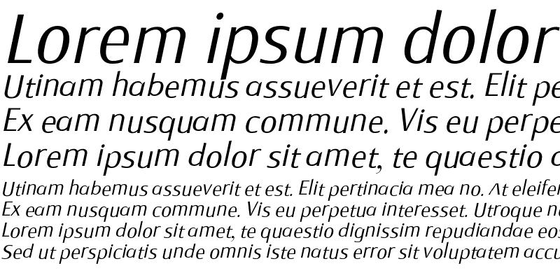 Sample of Monem ExtraLight Italic