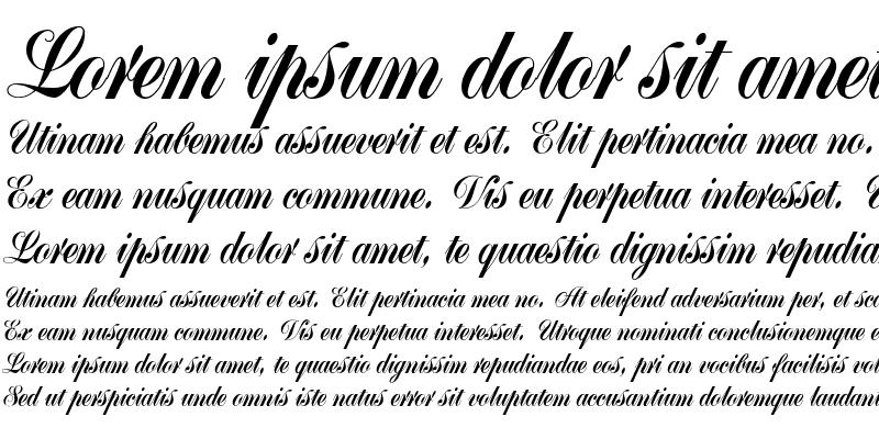 Sample of Monika Script