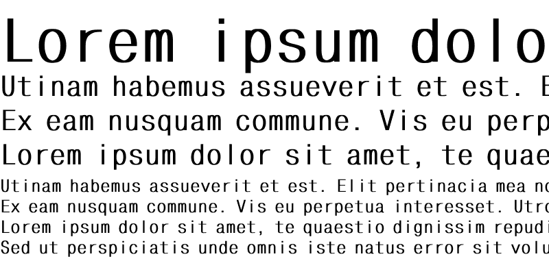 Sample of MonoCondensed Bold
