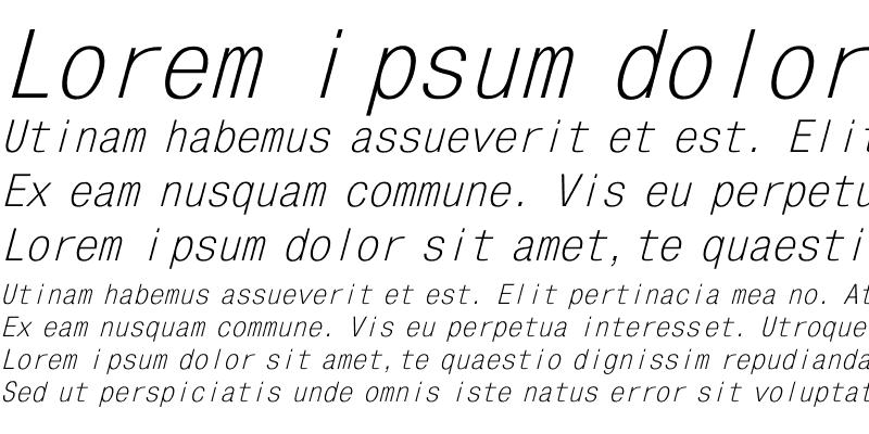 Sample of MonoCondensed Italic