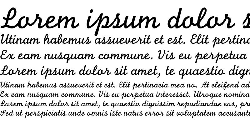 Sample of Monoline Script MT