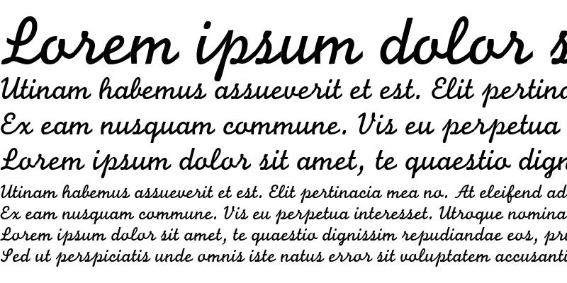Sample of Monoline Script MT Std
