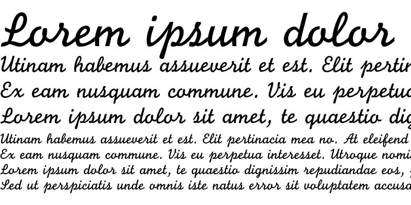 Sample of Monoline Script Regular