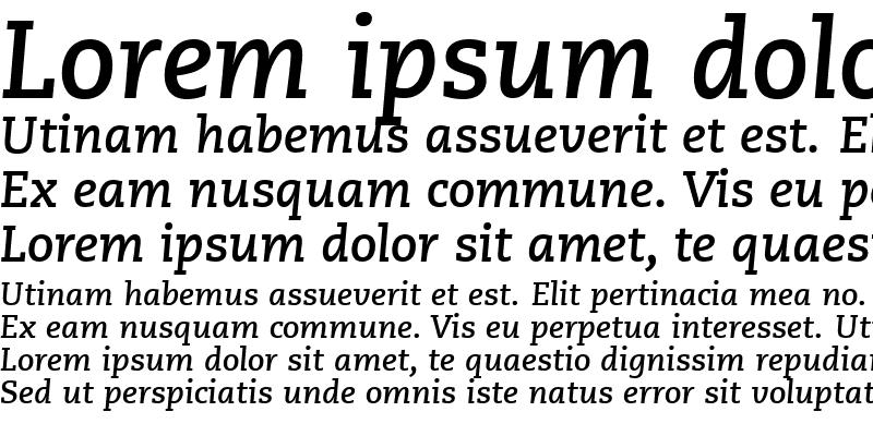Sample of Monologue SSi Bold Italic