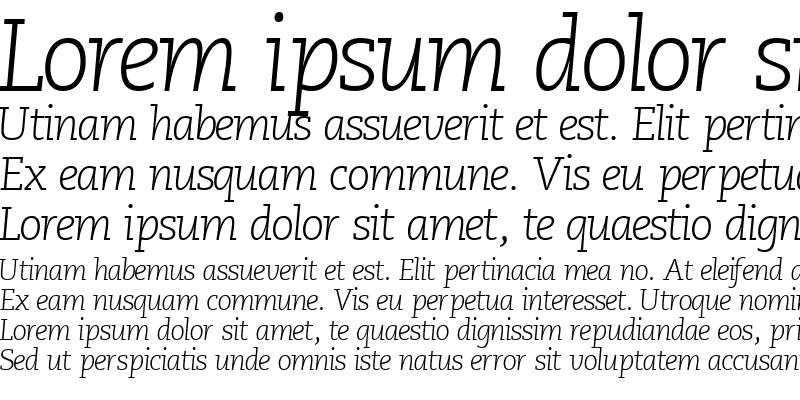Sample of MonologueLightSSK Italic