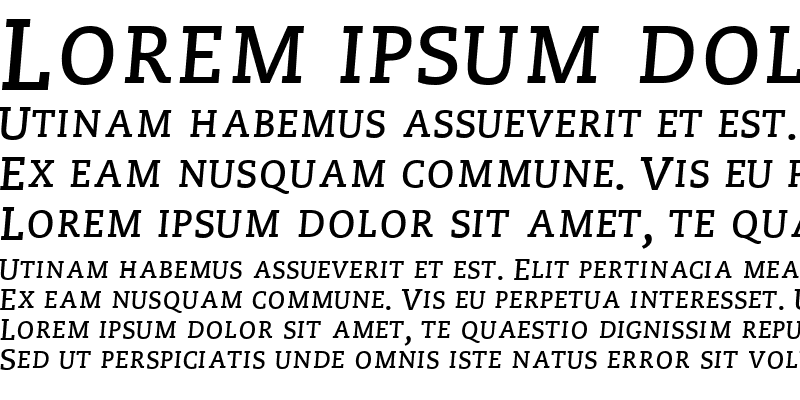 Sample of MonologueSCapsSSK Bold Italic
