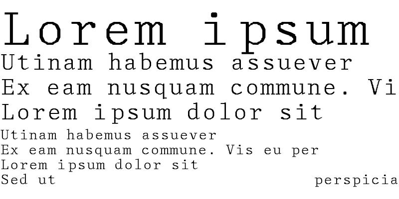 Sample of Monospace