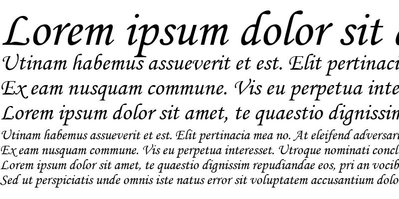 Sample of Monotype Corsiva