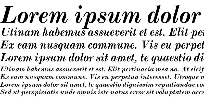 Sample of Monotype Modern Bold Italic