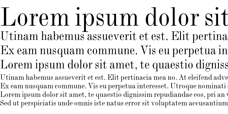 Sample of Monotype Modern Condensed