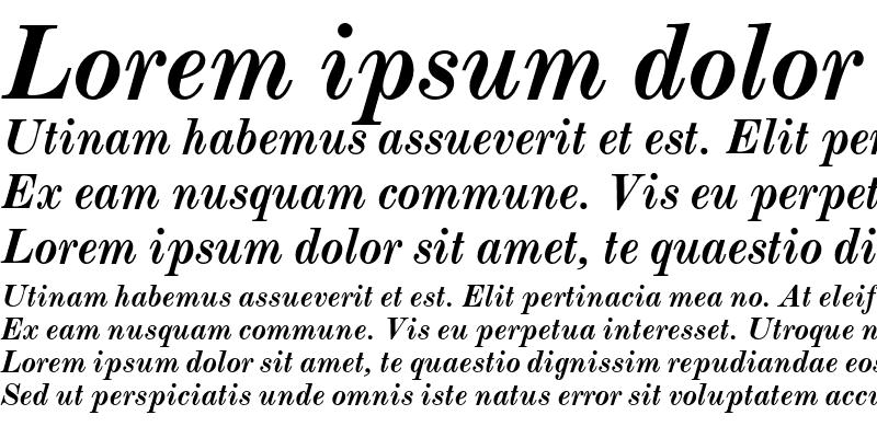 Sample of Monotype Modern Std Bold Italic