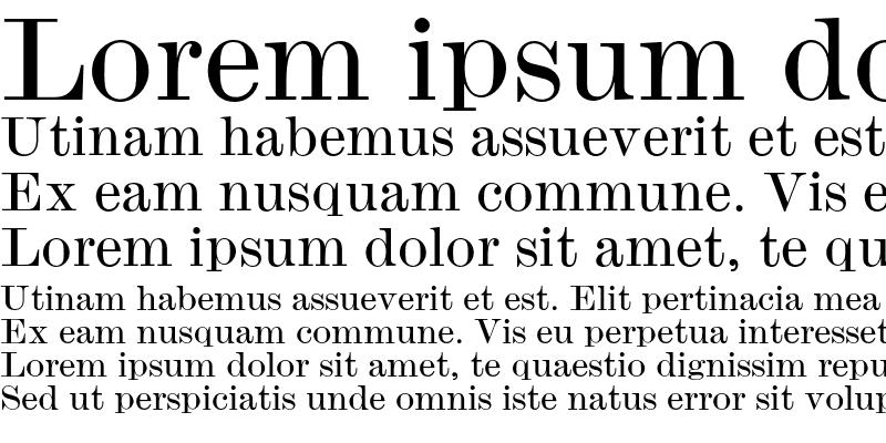 Sample of Monotype Modern Wide Regular