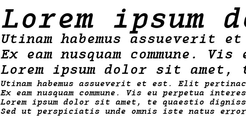 Sample of MonoxSerifBoldItalic