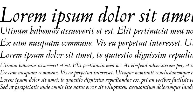 Sample of Monteverdi Italic