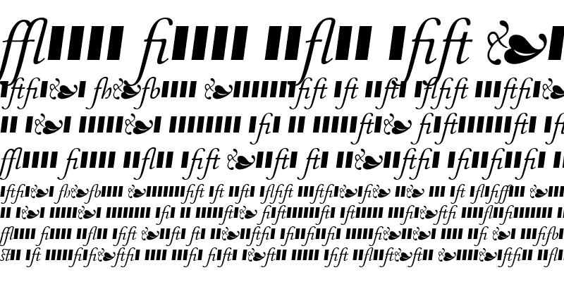 Sample of MonteverdiLigatures Italic