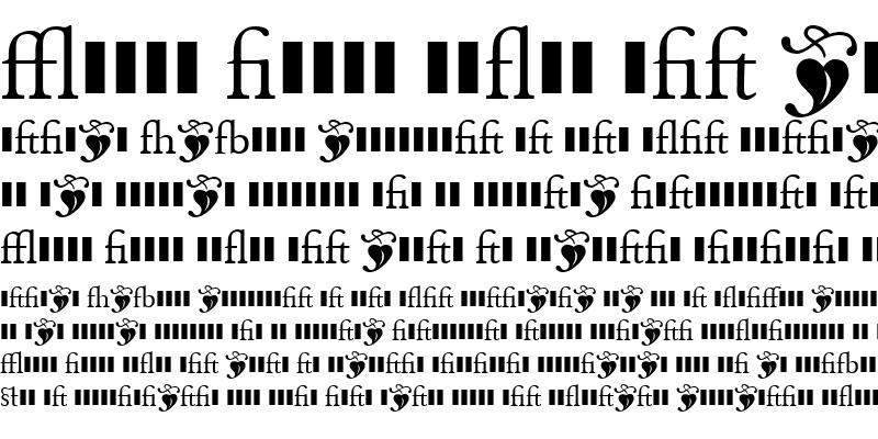 Sample of MonteverdiLigatures Regular