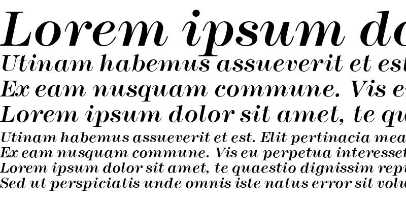 Sample of Montpellier Italic