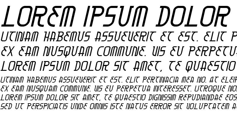 Sample of Moon Dart Italic