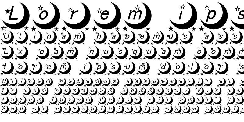 Sample of moon font