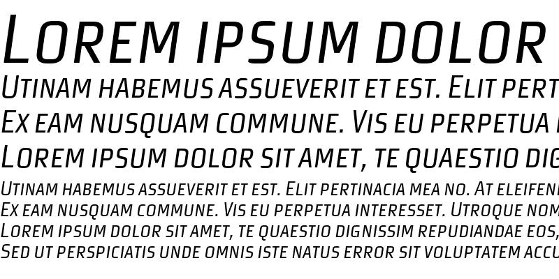 Sample of MorganSansCond Expert Italic