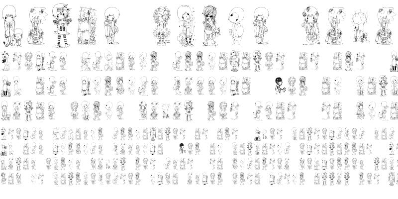 Sample of morito-font