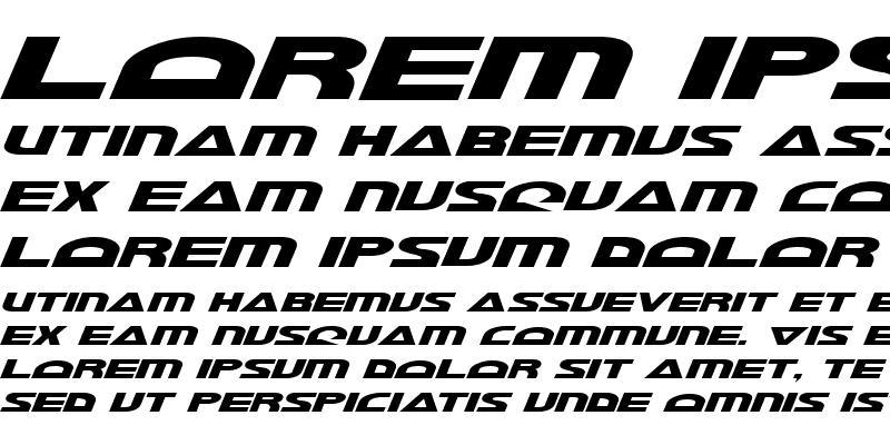 Sample of Morse NK Italic