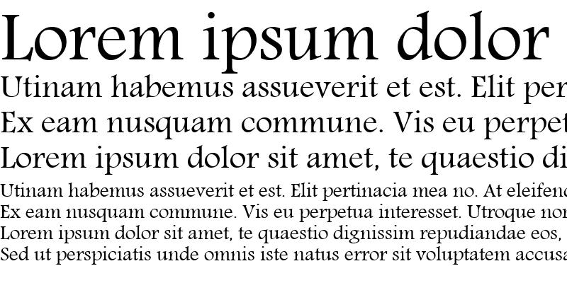 Sample of Motken Unicode Hor