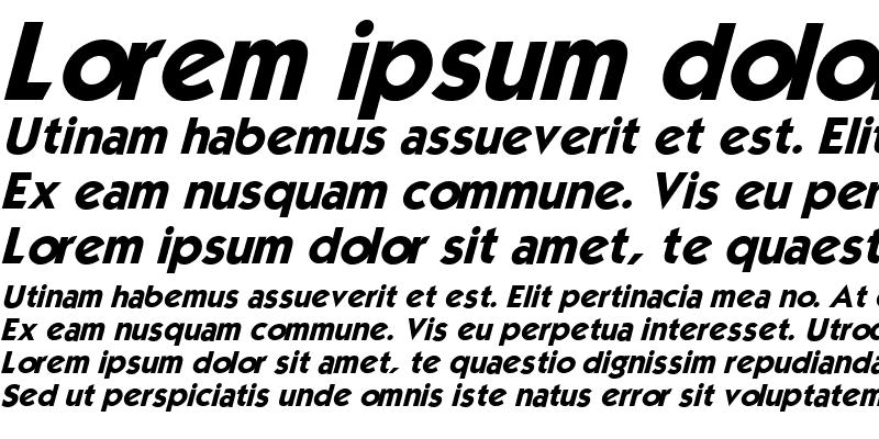 Sample of Mouser Italic