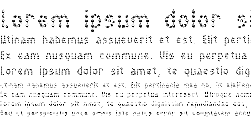 Sample of MousyFont