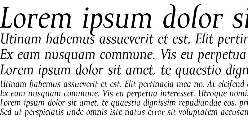 Sample of Mramor Text Italic