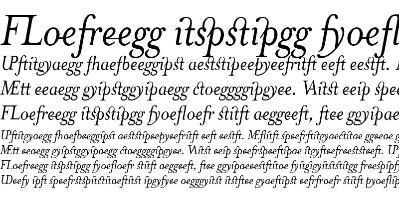 Sample of MrsEavesJustLig Italic