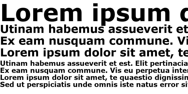 Sample of MS Reference Sans Serif Bold
