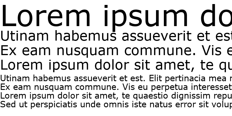 Sample of MS Reference Sans Serif