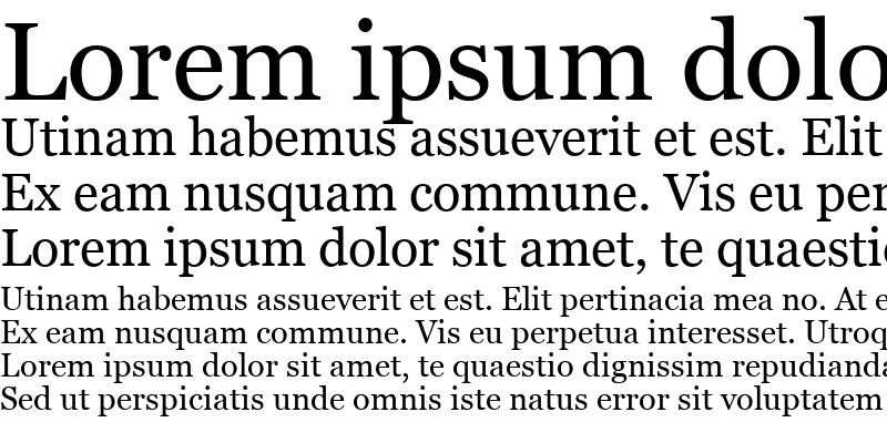 Sample of MS Reference Serif