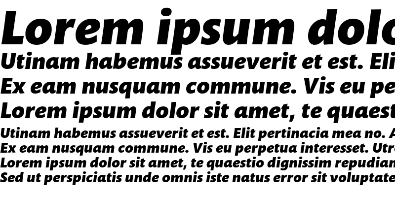 Sample of Mundo Sans Std Black Italic