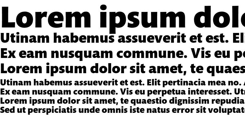 Sample of Mundo Sans Std Black