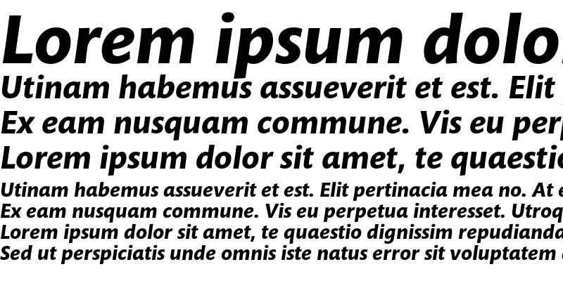 Sample of Mundo Sans Std Bold Italic
