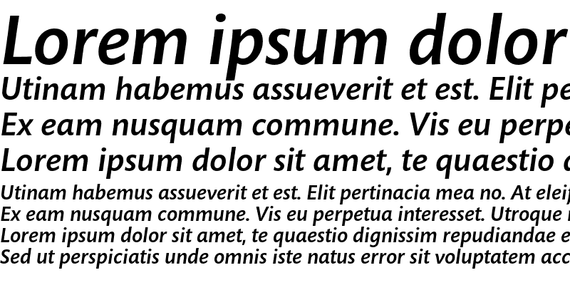 Sample of Mundo Sans Std Medium Italic