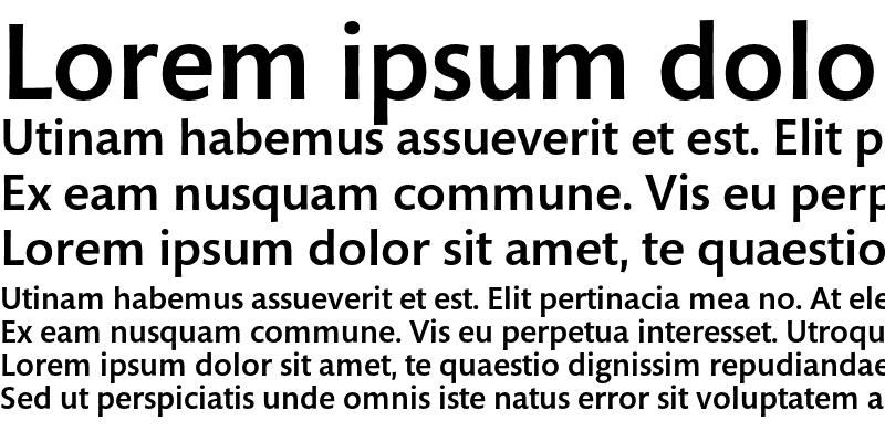 Sample of Mundo Sans Std Medium