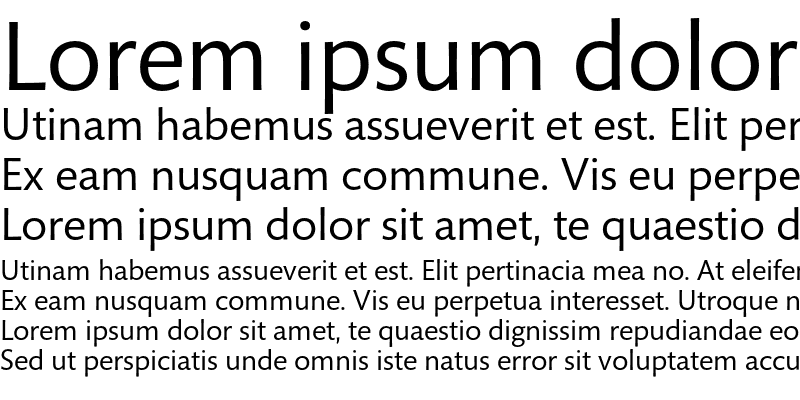 Sample of Mundo Sans Std Regular