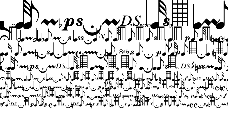 Sample of Musical Notes