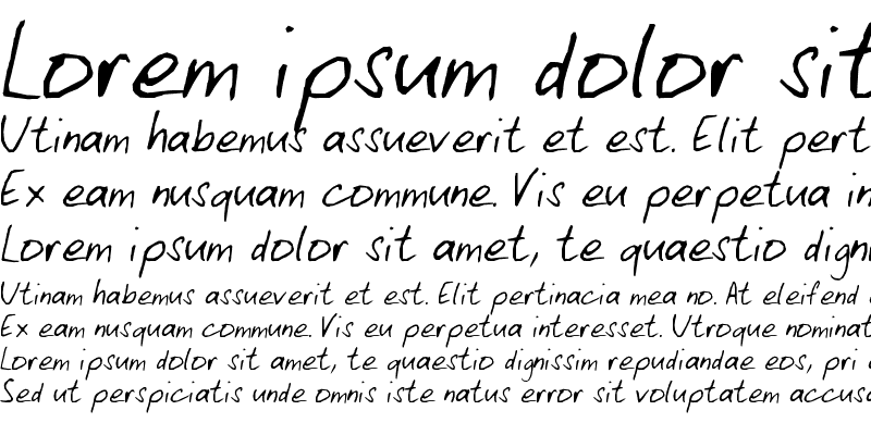 Sample of My Font 1