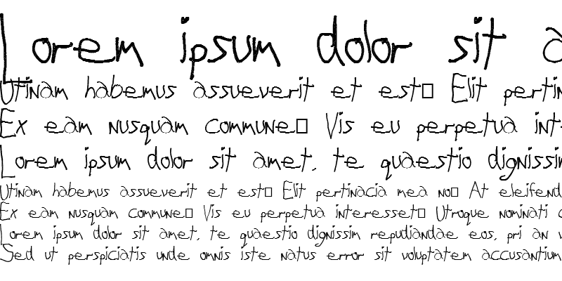 Sample of My Left Font