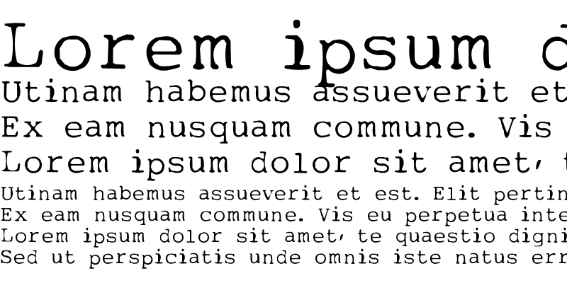 Sample of My type of font