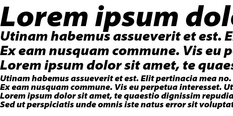 Sample of Myriad Pro Black SemiExtended Italic